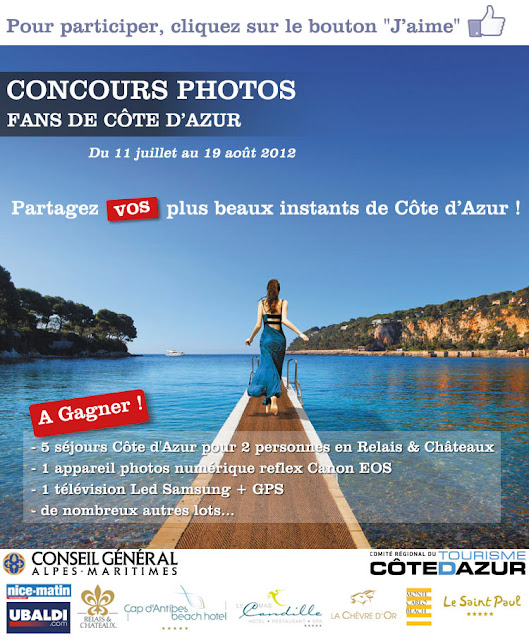 Jeu concours Côte d'Azur: 5 séjours sur la Côte d'Azur et d'autres lots