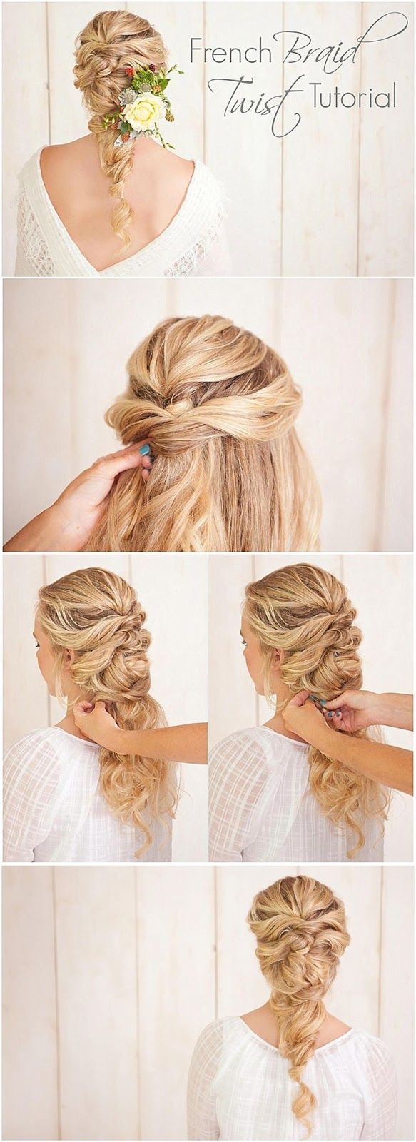 FRENCH BRAID TWISTED TOTORIAL