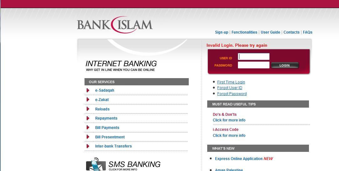 Sharing Is Power Tak Boleh Masuk Internet Banking Bank Islam Jangan Risau