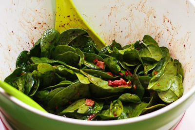 Spinach Salad With Fresh Mozzarella, Pears And Bacon Recipe ...