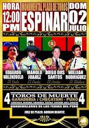 Eduardo Valenzuela, anunciado en Espinar, Perú, el 02/07.