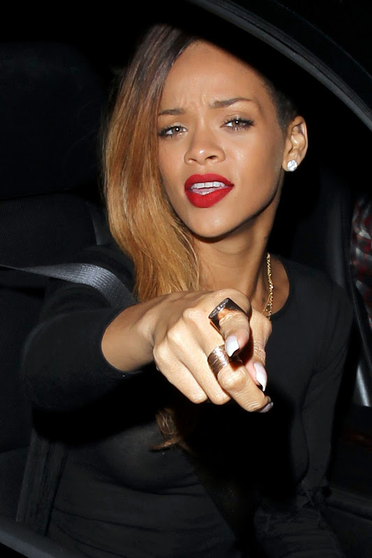 Rihanna – See-Through Braless Candids in Hollywood title=