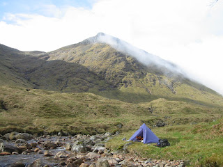 Home: my little tent under Buachaille Etive Mor, Glencoe