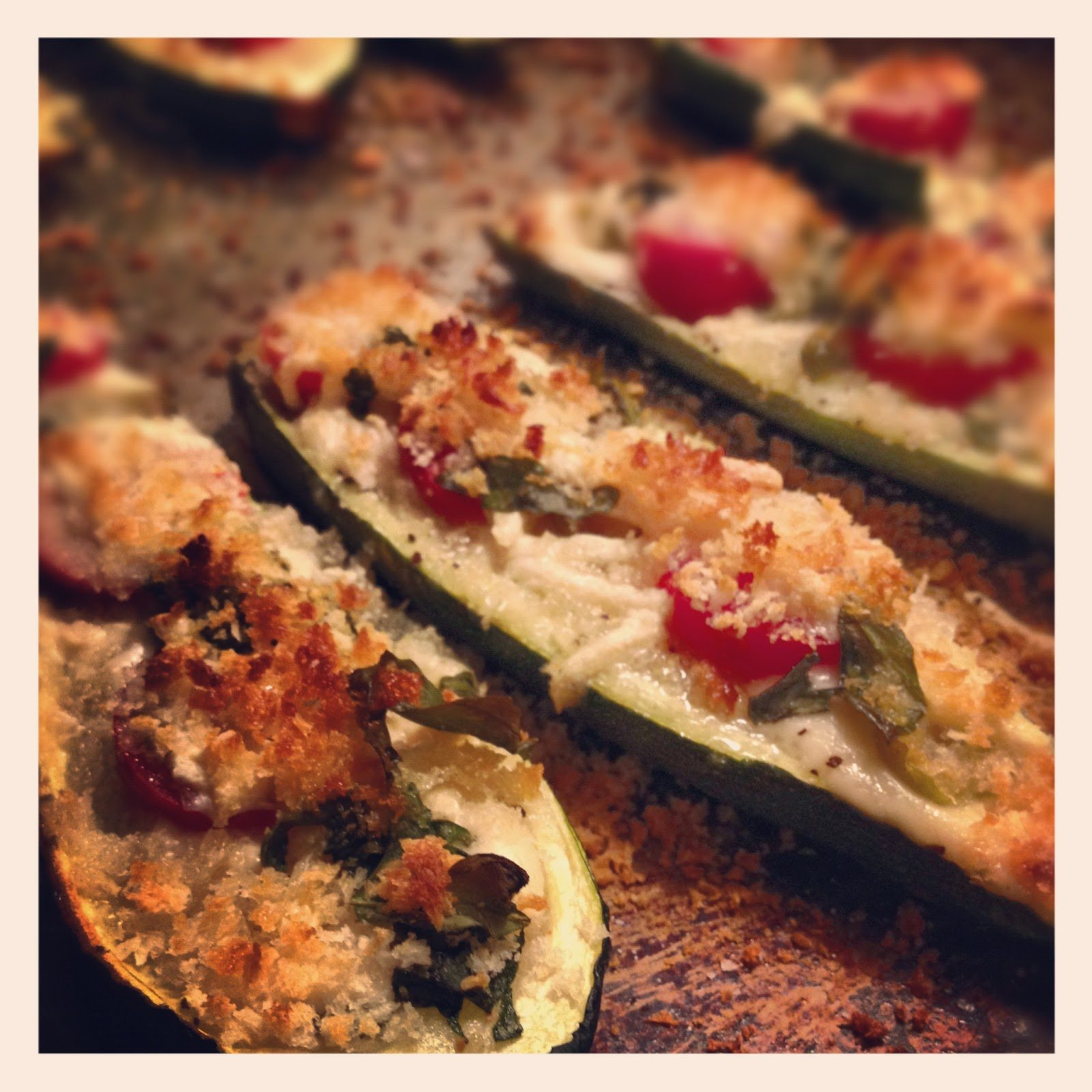 how to cook zucchini halves in the oven