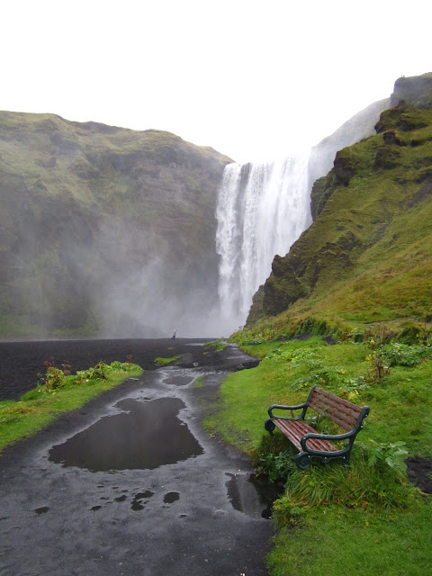 Waterfall near Skogar, Iceland.
