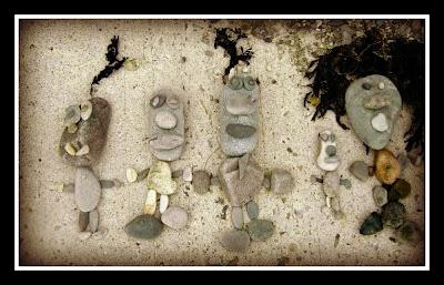 beach, stones, picture
