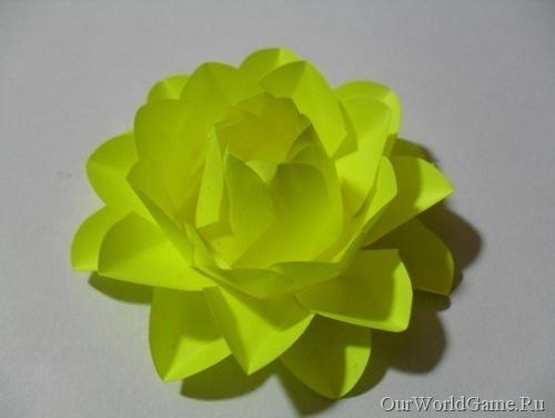 Как сделать объемную цветы из бумаги своими руками