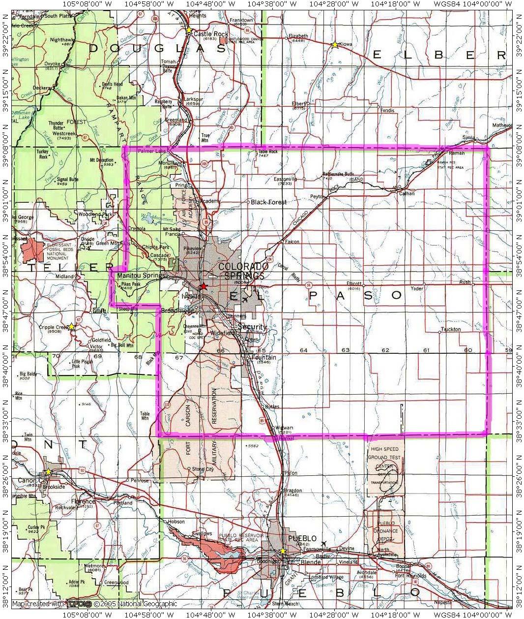 maps of dallas: El Paso Map