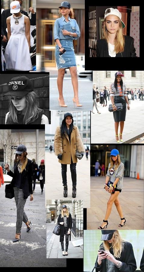 Rihanna, model Cara Delevingne and fashion trendsetters spotted at Fashion Week wearing baseball caps
