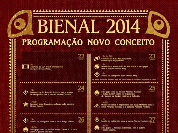 Programação do Grupo Editorial Novo Conceito para a XXIII Bienal do Livro de São Paulo