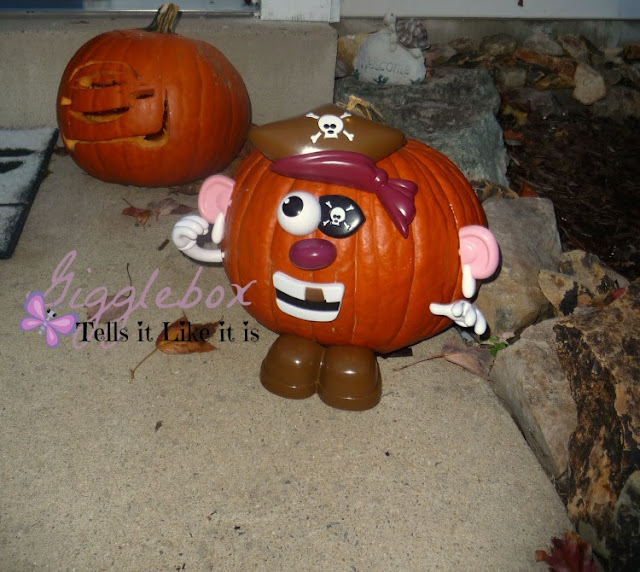 An awesome alternative way to let small children have a cool looking pumpkin for Halloween, alternative to carving pumpkins for Halloween,