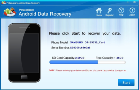 ������ ������� ������� �������� �� ����� ������� Android Data Recovery 6.1 ����