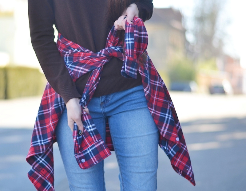 Karohemd_Timberland_Boots_Frauen_Outfit_rollkragenpullover