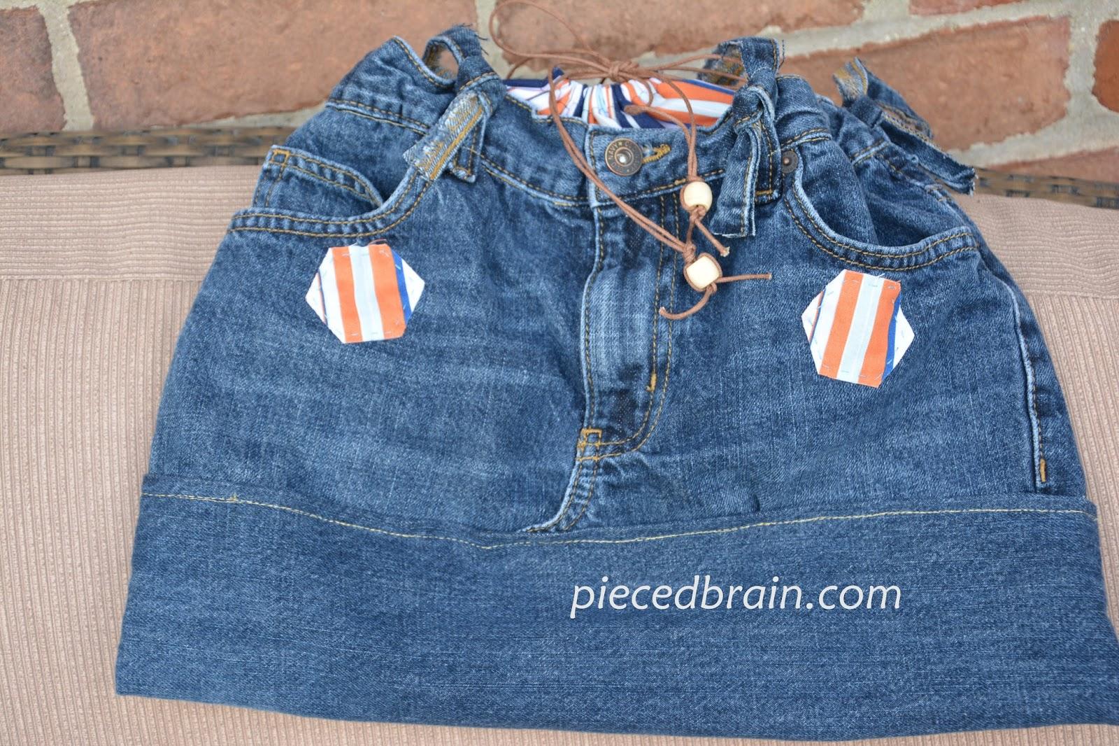 Pieced Brain Quick Jeans bag Tutorial