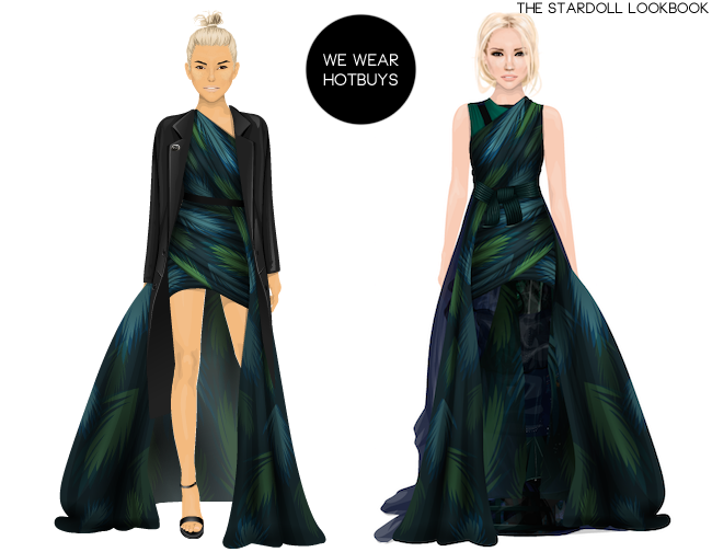 Stardoll green simple dress style