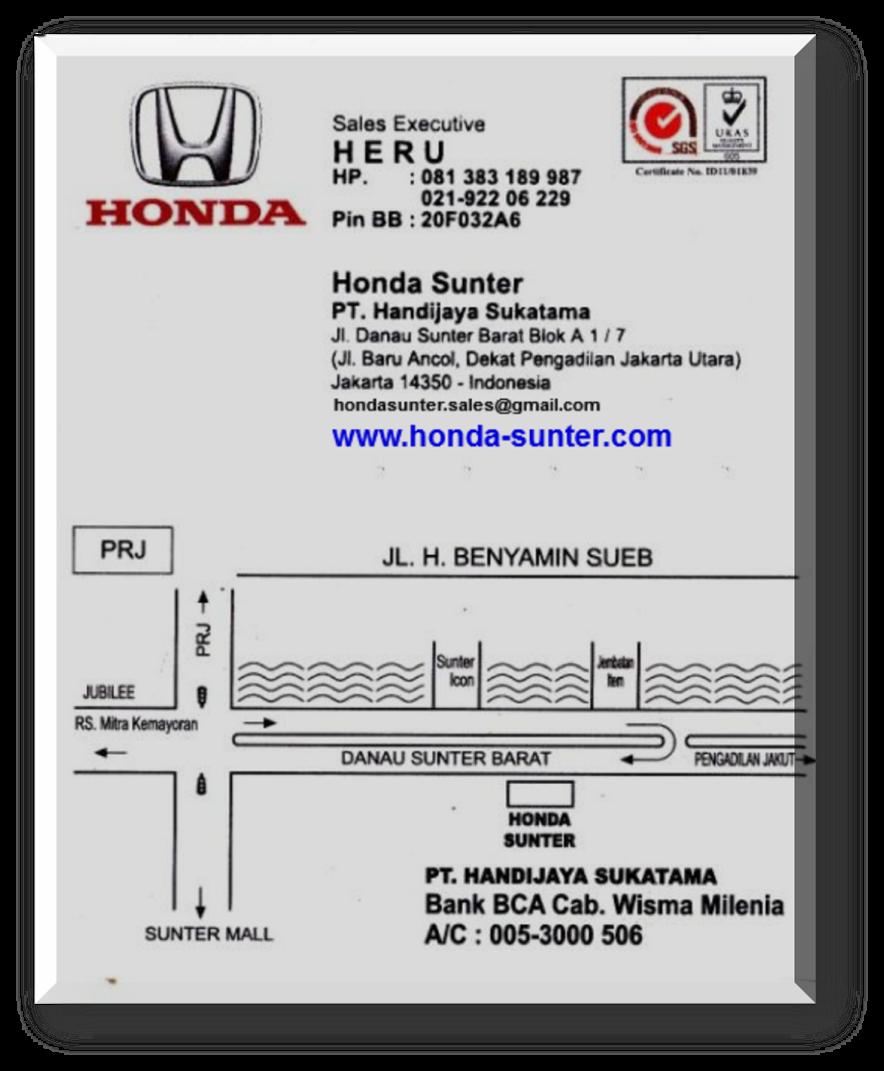 DEALER RESMI HONDA HR-V AREA JAKARTA UTARA