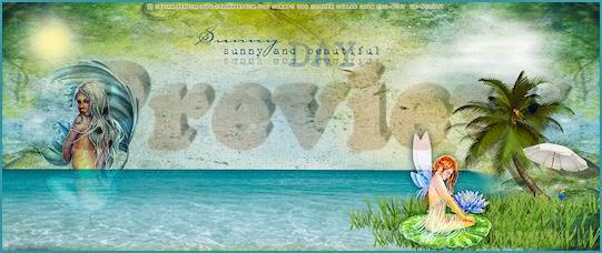 Summer Mermaid Desktop Wallpaper Preview