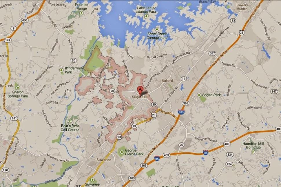 Sugar Hill Georgia Map Location