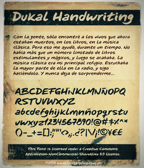 Dukal Free Handwriting Font