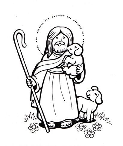 El Rincón de las Melli: Jesús el Buen Pastor (para colorear)