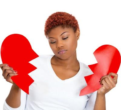 heart broken lady