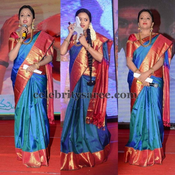 Suma Blue Traditional Silk Saree