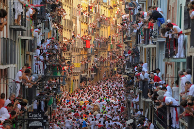 San Fermin, Festival, Pamplona, People, Culture, Bull, Tourist, Tourism, Spain, Animal, Run, Alcurrucen, Participate, Offbeat,