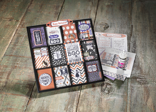 Authentique Spirited Halloween Printers Tray @craftsavvy #craftwarehouse #printerstray #halloween #decor #diy