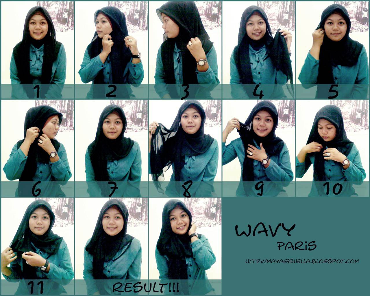 Tutorial Jilbab Paris Segitiga Simple 3 Styles By Ellen Blog