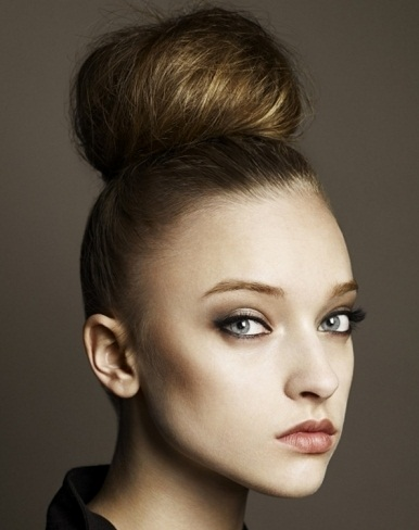 Chic Top Knot Hair Style 2014