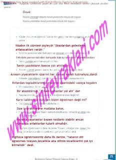 8.Sinif Turkce Enderun Yayinlari Calisma Kitabi Cevaplari Sayfa 25