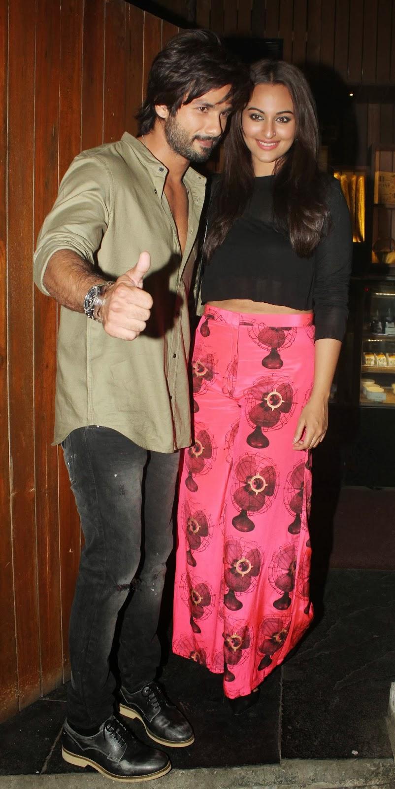 sonakshi sinha and shahid kapoor dating