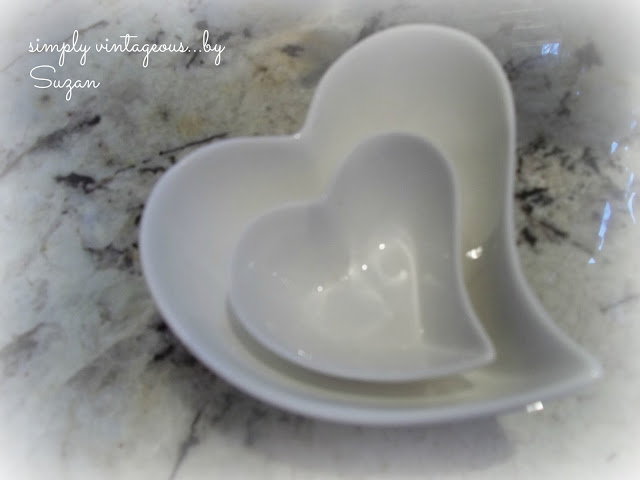 heart, bowls, white, porcelain, shape
