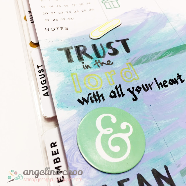 ScrappyScrappy: Trust & Lean Not #scrappyscrappy #planner #mambi #happyplanner #bible #artjournal #biblejournal #distress