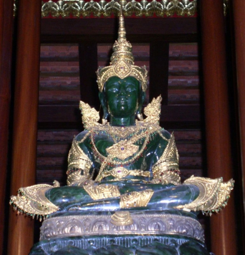 statue of the emerald buddha at the royal palace Bangkok thailand grand