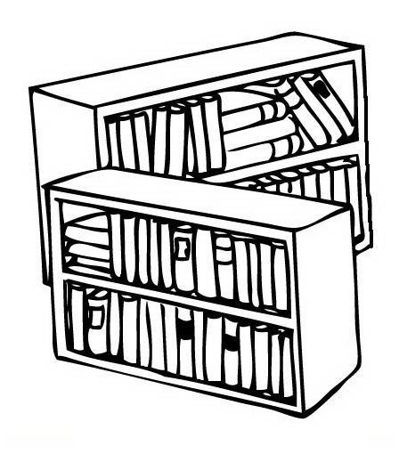 Dibujos de biblioteca para colorear - Imagui