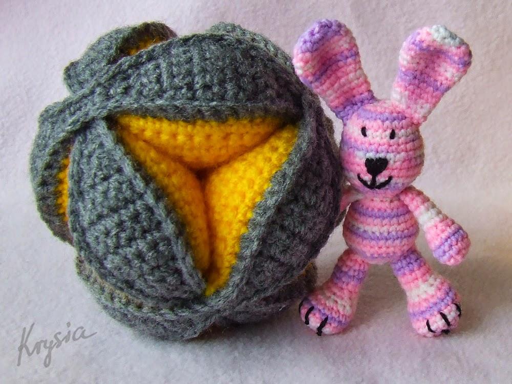 piłka szydełkowa puzzle ball króliczek