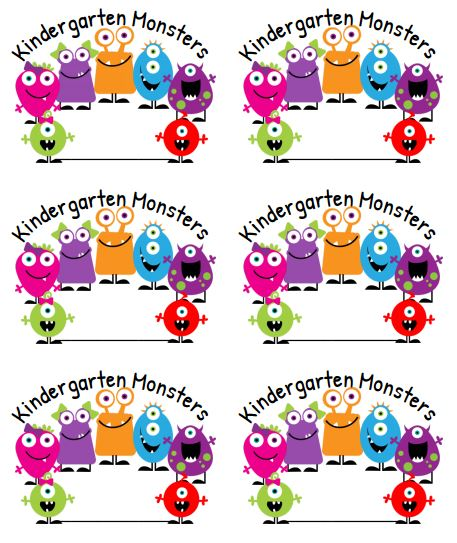 Freebie of the Week! - Monster Labels | The Wise & Witty Teacher