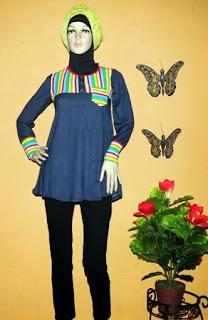 Grosir baju denim spandek murah BKM2063