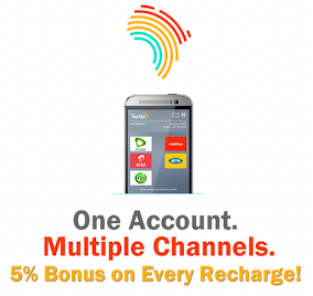 RECEIVE 5% BONUS ON EVERY RECHARGE