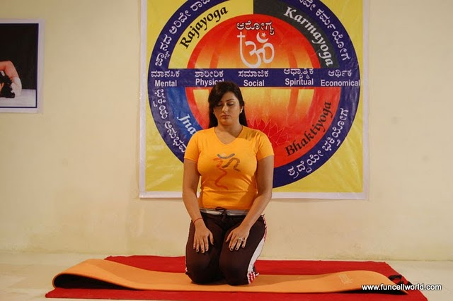 Namitha's As Yoga Guru In Love College Telugu Movie
