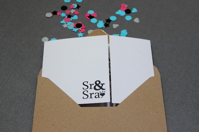 invitaciones de boda originales confeti hermanas bolena