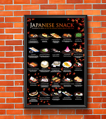 JAPANESE SNACK POSTER (MAPLE BACKGROUND)