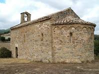 L'ermita de Sant Miquel de Vilageliu vista des del sud-est