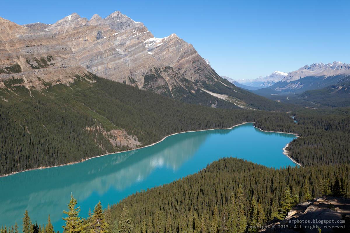 Peyto lake glacier Banff national park Canada Rocky Mountains turquoise green blue Alberta