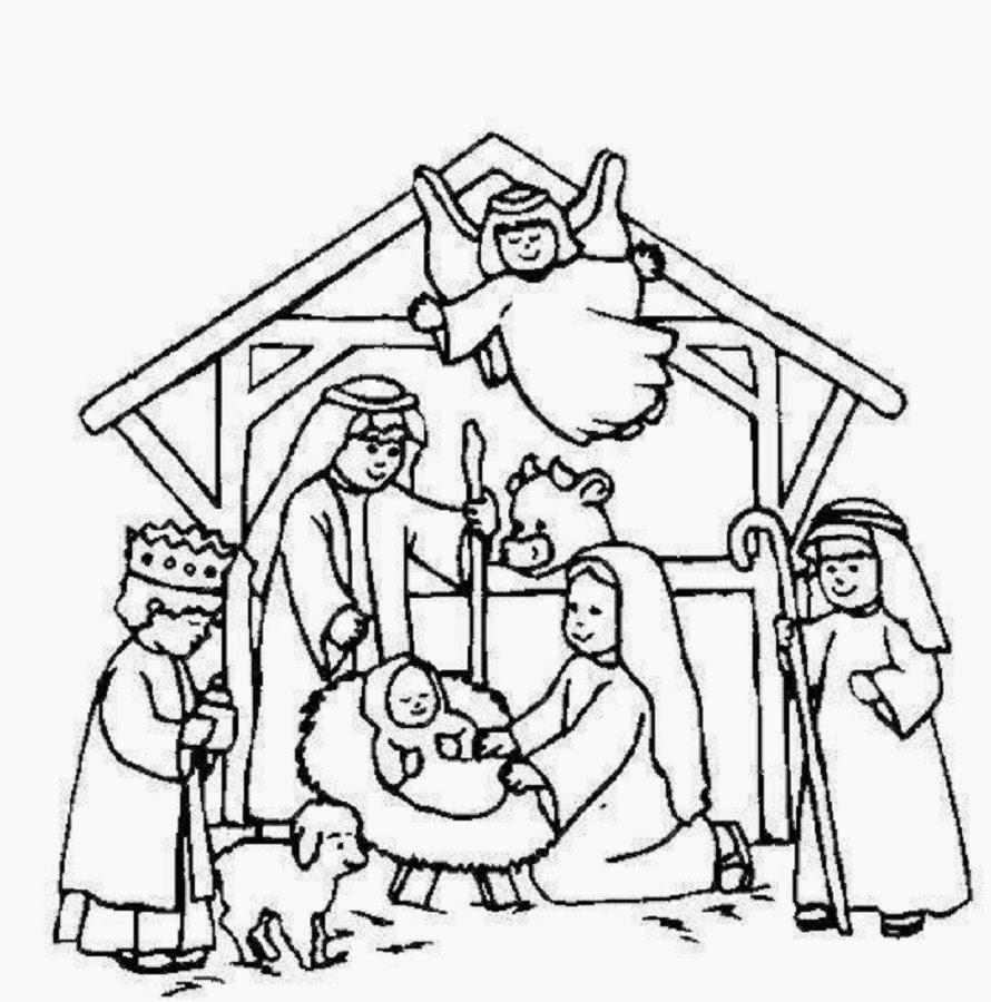 Vibrant image regarding printable nativity scene