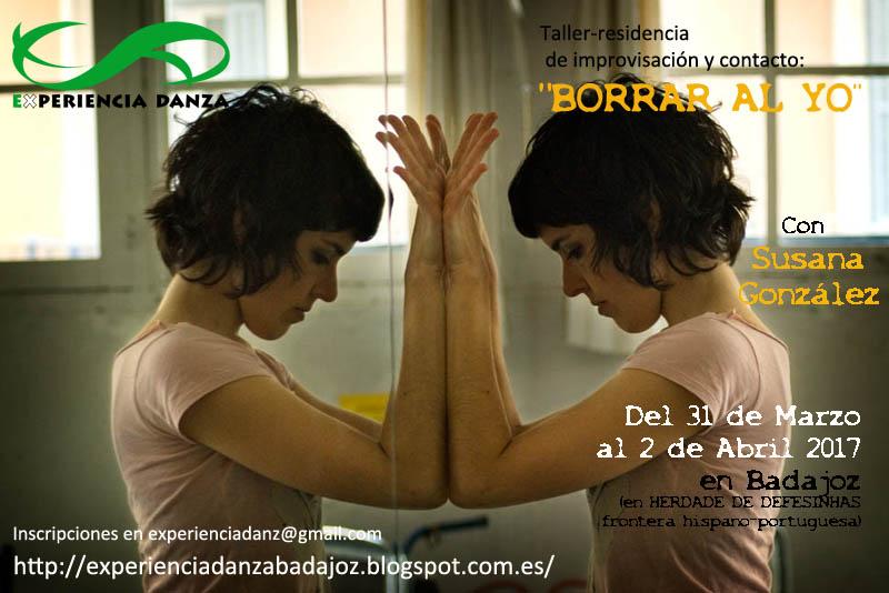"""TALLER-RESIDENCIA """"BORRAR AL YO """" con Susana González"""