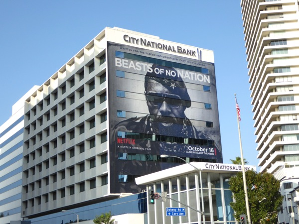 Giant Idris Elba Beasts of No Nation billboard