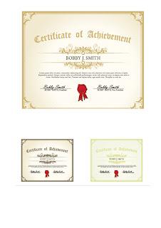 diferentes tamaños de certificados Certificados para imprimir
