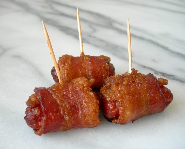 Home Baked Memories Bacon Wrapped Sugar Topped Smokies